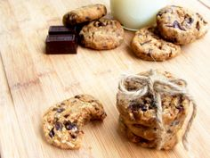 Vegan Chocolate Chip Cookies with Peanut Butter