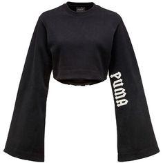 873d40e9f Fenty X Puma Women Long Kimono Sleeve Cotton Crop T-shirt found on Polyvore  featuring