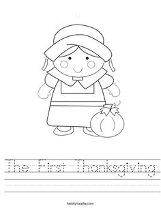 thanksgiving worksheets   The First Thanksgiving Worksheet - Twisty Noodle