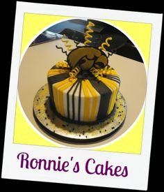 Invader Zim s theme Gir birthday cake. Custom topper ...