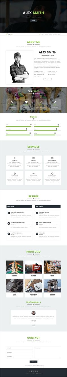 Portfolio For Resume Smart  Personal Portfolio  Cv  Resume Template  Cv Resume .