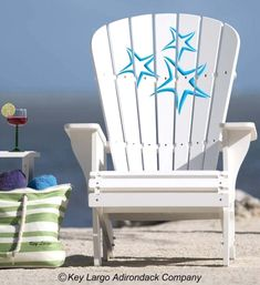 Adirondack Beach Chairs on Beach Bliss Living: http://beachblissliving.com/adirondack-beach-chairs-a-summer-classic/