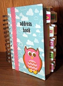 address book tutorial, you could do this with a ready made notebook, just add tabs....