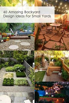 40 Amazing Backyard Design Ideas For Small Yards