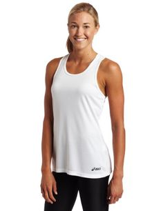 ASICS Womens Ready Set SingletWhiteSmall >>> Click image to review more details. (This is an affiliate link) #ExerciseandFitnessEquipment