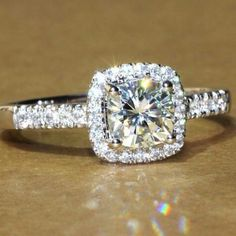 2.7 CT Cushion Cut Engagement Ring