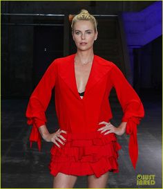 7.15.17  Charlize Theron in Givenchy F17 to promote Atomic Blonde in Berlin