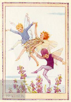 'Heather Fairies' - Illustration from the book 'The Heath Fairies' , Margaret Tarrant