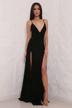 Abyss ELLE gown (black) - Kourvosieur  - 1
