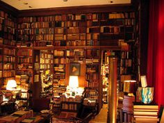 My dream home library! Working on it! Beautiful Library, Dream Library, Cozy Library, Future Library, Library Room, Library Corner, Beautiful Dream, Beautiful Images, Books And Tea