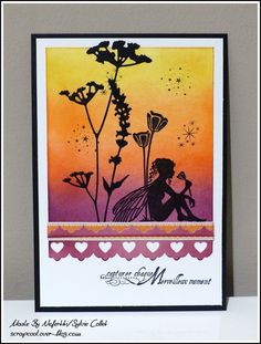 Distress inks and Lavinia stamps