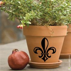 St. Peter Fleur de lis Decal  3.5 x 4 by CLINGeverything on Etsy, $5.00
