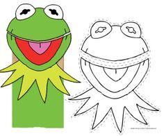 Diy Paper Bag, Paper Bag Crafts, Paper Sack, Muppet Babies, Baby Puppet, Die Muppets, Frog Crafts, Kids Crafts, Paper Bag Puppets