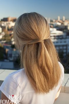 Half-up hairstyle inspiration - Hair Romance