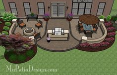 outdoor patio ideas with fire pit | Outdoor Spaces | Patio Designs and Ideas