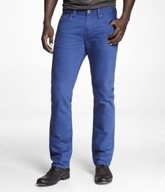 #EXPRESSJEANS ROCCO COLORED SLIM FIT SKINNY LEG JEAN-ROYAL BLUE at Express