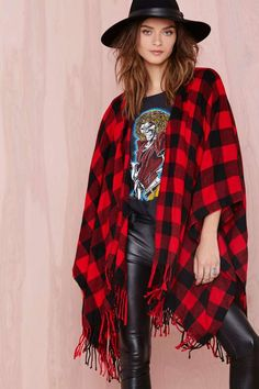 Good Girl Gone Plaid Jacket No diggity; we gotta plaid it up. The Good Girl Gone Plaid Jacket has fringe detail; red and black plaid print; and is designed to sit over your shoulders and drape across your arms. Wear it over all your fall looks and tell those fleece jackets to take a found on Styletorch