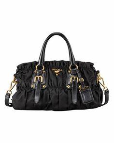 Tessuto Gaufre Satchel Bag by Prada at Neiman Marcus.
