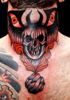 El Carlo. Throat tattoos are so hot