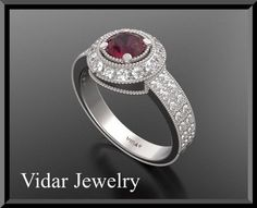 #vidarjewelryArtfire on Artfire                     #ring                     #Incredible #Ruby #Diamond #White #Gold #Engagement #Ring                     Incredible Red Ruby And Diamond 14k White Gold Engagement Ring                                          http://www.seapai.com/product.aspx?PID=199245
