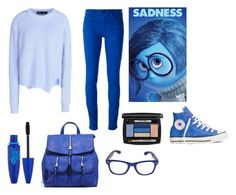 """""""Inside out inspired outfit: Sadness"""" by katiebelle1102 on Polyvore"""