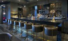 Caesar Steak House • Grigio Cenere Marble #grigio #cenere #marble #iconstonetile #inspiration #creation #design #space #decor #home #yyc