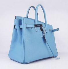 Hermes Light Blue Cowskin Birkin Frockage: Hermes Birkin bag