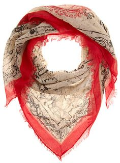 8b7bf407ca85 map scarf Spring Scarves, Square Scarf, Antique Maps, Scarfs, Cool Style,