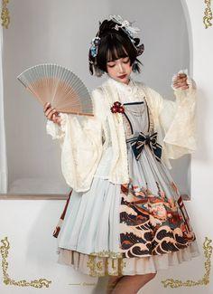 CEL Lolita -Kaiseki in Waves- Wa Lolita Haori (lace version)