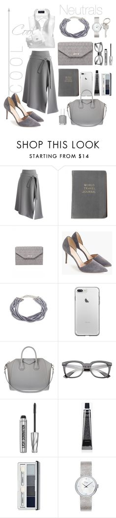 """Cool As A Neutral"" by ivy-magik ❤ liked on Polyvore featuring Chicwish, Stella & Dot, J.Crew, Kenneth Jay Lane, Givenchy, Bare Escentuals, Grown Alchemist, Clinique, Dior Timepieces and Paul Smith"