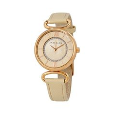 Women's Wrist Watches - Anne Klein Womens AK2192RGLP GlitterAccented Rose GoldTone and Blush Pink Strap Watch * Visit the image link more details.