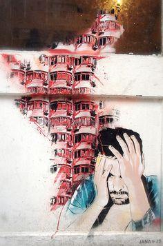 Awesome Streetart in London / UK #streetart jd