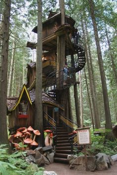 My daughter is building a treehouse up north...I wonder if it will look like this....