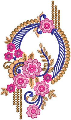 Latest Embroidery Designs, Border Embroidery Designs, Embroidery Motifs, Machine Embroidery Designs, Baroque Design, Baroque Pattern, Pattern Art, Fashion Design Books, Textile Design