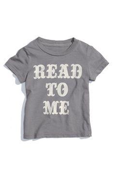 """Peek Short Sleeve """"Read to Me"""" Tee (Infant) $28"""