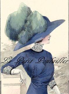 La Belle Epoque Fashion Plates 1911 Paris Couture Antique Chromolithograph $32.85 ... in my shop now!