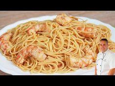 ⭐Estoy seguro que jamas viste hacer así los espaguetis! 😍😍 - YouTube Seafood Recipes, Mexican Food Recipes, Ethnic Recipes, Comida Latina, Paella, Cake Pops, Pasta Salad, Risotto, Shrimp