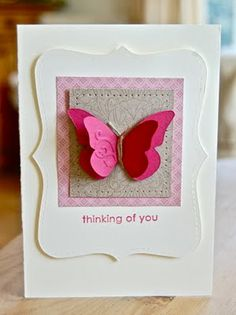 Stampin' up! Layered butterfly card