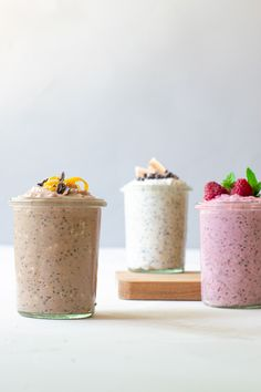 Havre natten over - tre favoritter - Cathrine Brandt - Best Pins Healthy Dessert Recipes, Raw Food Recipes, Snack Recipes, Breakfast Recipes, Breakfast Ideas, Danish Food, Recipes From Heaven, Smoothie Bowl, Smoothies