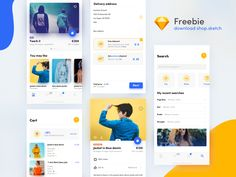 Harmony is a very nice and clean App UI Kit with 9 screen design Sketch file. this app colour scheme is amazing. Design made by Dawid Młynarz Mobile Design, App Design, Free Design, Ui Kit, Free Online Shopping, E30, Free Apps, Mobile Ui, Sketch Free
