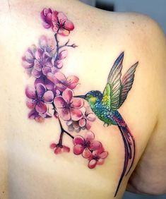 50 Best Hummingbird Tattoo Designs – Page 7 – The Paws - 50 Best Hummingbird Tattoo Designs – Page 7 – The Paws - Hummingbird Flower Tattoos, Hummingbird Tattoo Watercolor, Hummingbird Tattoo Meaning, Watercolor Tattoo Tree, Cover Up Tattoos For Women, Tattoos For Women Small, Pretty Tattoos, Beautiful Tattoos, Leg Tattoos
