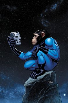 Fantastic Four Monkey variant - Frank Cho Frank Cho, Comic Book Artists, Comic Books Art, Jungle Girl, Mister Fantastic, Comic Art Community, Monkey Art, Creation Art, Spiderman