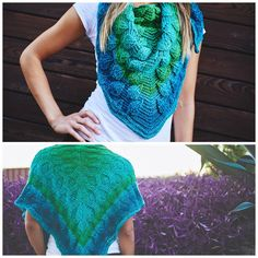 Double sided Waves/Leaves Shawl
