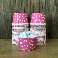 Raspberry Pink Candy CupsPink Nut Cups by OutsidetheBoxPapers