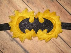 RESERVED for Stacy...Batman and Robin Headband by Zobows on Etsy