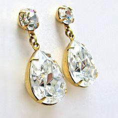 Crystal Post Earrings Crystal Swarovski Jewels by ZhivanaDesigns, $64.00