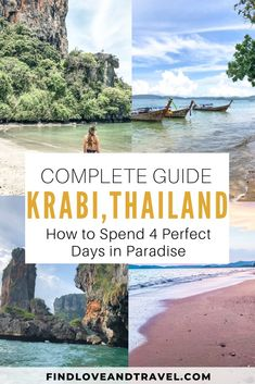 How to See Krabi, Thailand in 4 Days – Perfect Itinerary Detailed Krabi 4 Day Itinerary. See the top places in Krabi, go island hopping and more! Includes all the fun things to do in Krabi, Thailand. Ao Nang, Thailand Travel Guide, Bali Travel, Travel Usa, Croatia Travel, Travel Europe, Hawaii Travel, Travel Packing, Germany Travel