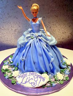 Barbie | 3-D cake as Barbie's dress. Fondant | Rosebud Cakes | Flickr
