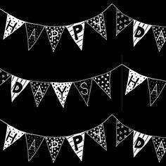 Happy Days Bunting WB fabric by smuk on Spoonflower - custom fabric
