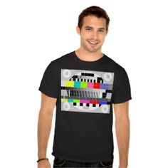 Retro TV multicolor signal test pattern Tee Shirts